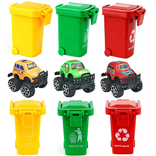 PiPiHa Kids Toy Push Vehicles Garbage Cans Mini Truck's Tras