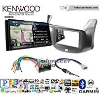 Volunteer Audio Kenwood DNX874S Double Din Radio Install Kit with GPS Navigation Apple CarPlay Android Auto Fits 2009-2014 Honda Fit