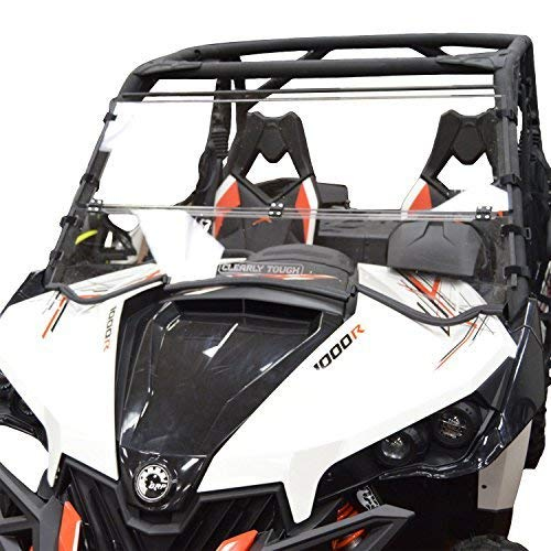 Clearly Tough Can Am Maverick Windshield - Full Folding -Scratch Resistant- The Ultimate in Side by Side Versatility!Premium Polycarbonate w/Hard Coatmade in America!! (Can Am Maverick Windscreen)