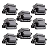 Ignition Coils Square High Performance Ignition Parts for Cadillac Chevy GMC Hummer Isuzu Workhorse Compatible with UF271 C1208 (Pack of 8)