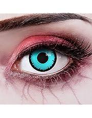 aricona Kontaktlinsen Kleurlenzen - blauwe gekleurde jaarlenzen - Halloween contactlenzen blauw zonder sterkte