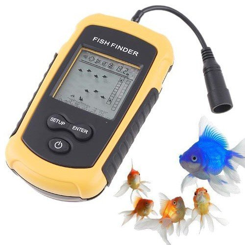 Generic Portable Sonar Sensor Fish Finder Alarm Transducer (Depth to 100m)