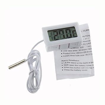 WKELECTRONDE-1Pcs Medición de Temperatura LCD Display Termómetro ...