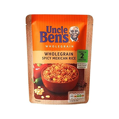 (Uncle Bens Micro Rice Wholegrain Spicy Mexican 250g - Pack of 2)