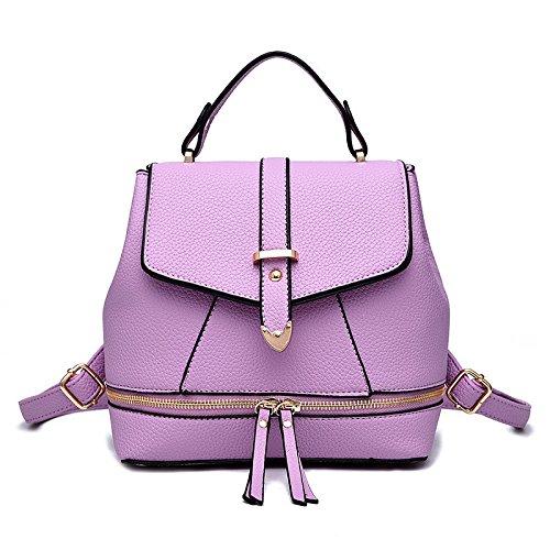 Mefly Bolso Ladies College Style cruz oblicua bolso azul cielo Purple taro