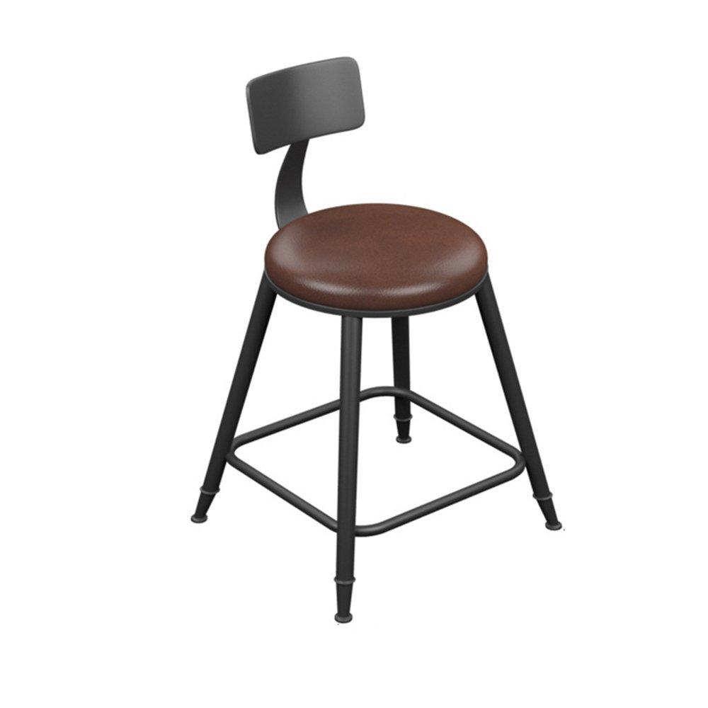 404071cm Bar Stool - Vintage Leather Wrought Iron Bar Stool Bar Simple Stool (Multiple (Size   40  40  71cm)