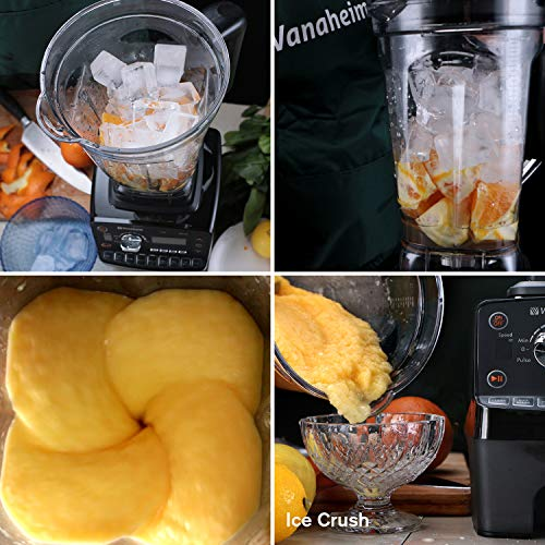 Vanaheim KB64 Professional Blender 1450W,64Oz Container,9 Programs,Variable Speed,Auto Clean,Powerful Stainless Steel Blade,Easily Crushing Ice,Smoothies,Juice by Vanaheim (Image #5)