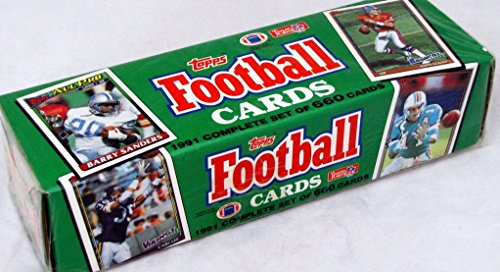 1991 Topps NFL Football Cards Factory Set (660 different cards)