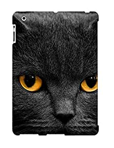 Hot Style GKzQSZy466WZAde Protective Case Cover For Ipad2/3/4(black Cat ) For Thanksgiving Day's Gift