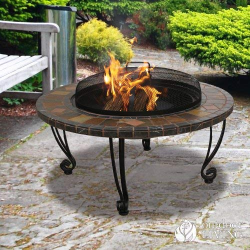 Blue Rhino WAD820SP UniFlame Slate Tile Fire Pit Black