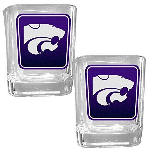NCAA Kansas State Wildcats Square Glass Shot Glass Set ()