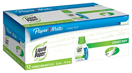 Sanford Paper Mate Correction Fluid, 22ml, Ledger Buff (5660115)