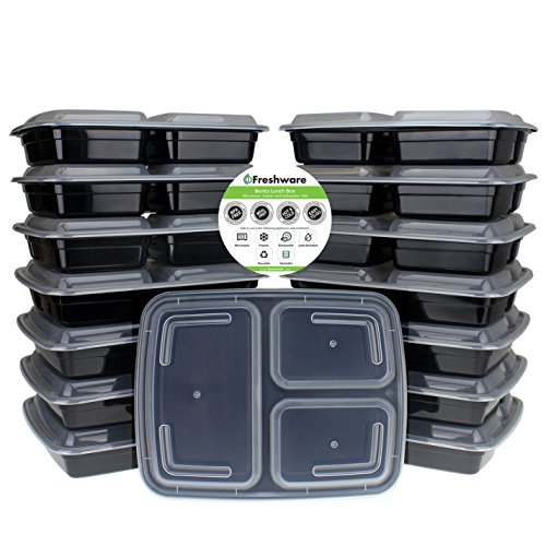 Freshware Containers Compartment Stackable Dishwasher