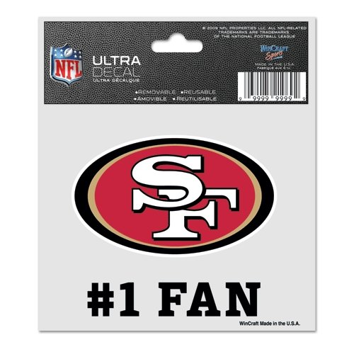 - WinCraft NFL San Francisco 49ers 95629010 Multi-Use Decal, 3