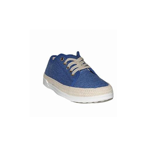P Zapatilla Lona Esparto Hilda 99-1 Zapatillas Lona Mujer Azul Casuales Esparto Moda: Amazon.es: Zapatos y complementos