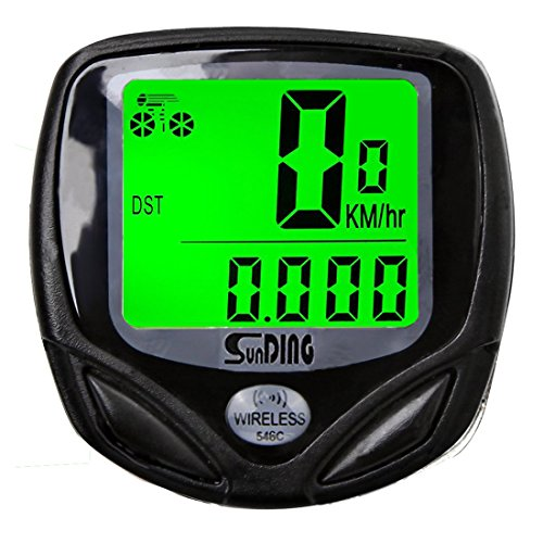 Wolfride¨ Cyclists Wireless Backlight Bicycle Computer Cycling Bike Odometer Speedometer Multi Function