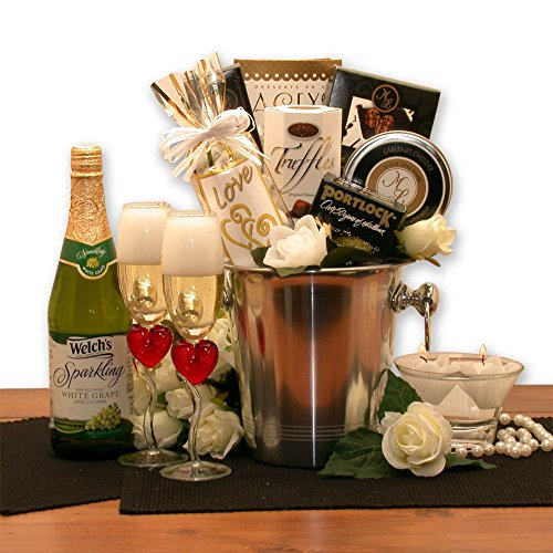 A Romantic Evening For Two Gift Basket (Gift Basket Champagne)