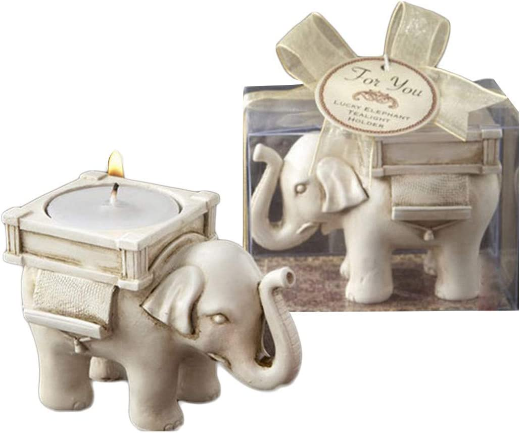 Candle Tealight Holder Candleholders for Votive Birthday Candles Home Decoration Elephant Design Pack of 2: Home & Kitchen
