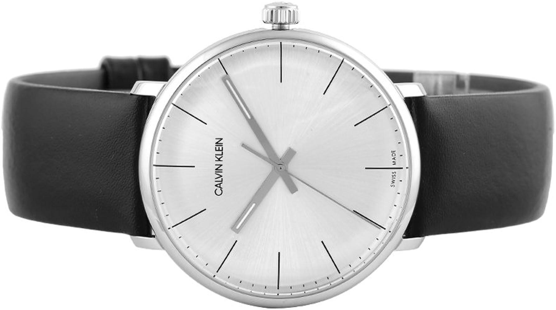 Calvin Klein High Noon Watch - K8M211C6 Silver/Black One Size: Amazon.es: Relojes
