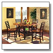Bali 5-Piece Oval Counter Height Set