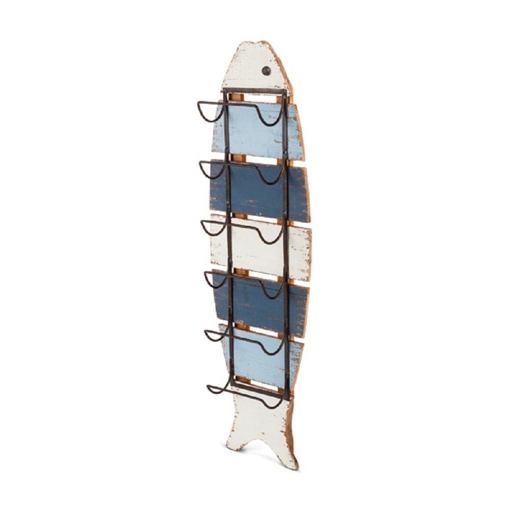 Gerson木製ストライプ魚壁ラック B07CCZTTXP