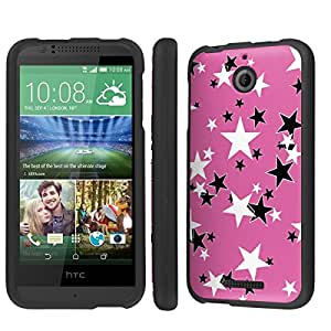 NakedShield HTC Desire 510 (Pink Shimmer Star) Total Hard Armor LifeStyle Phone Case
