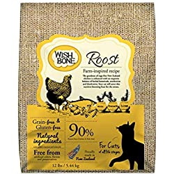 Wishbone Pet Foods - Grain Free, Gluten Free, Natural Dry Cat Food With New Zealand Cage-Free Chicken, For All Life Stages - 12 Lb Bag