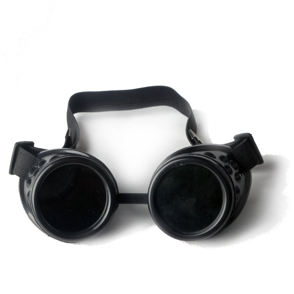 Kaleidoscope Rave Steampunk Goggles with Rainbow Glass Lens Halloween Goggles