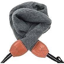 LIFEMATE Camera Strap,DSLR Camera Strap Universal Neck Strap ,Fabric Of Bohemia Floral Scarf Camera Strap For Women (grey)