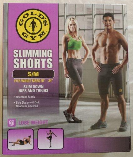 Golds Gym Slimming Shorts Slim Down Hips & Thighs Neoprene Shorts S/M - Fits Waist 32