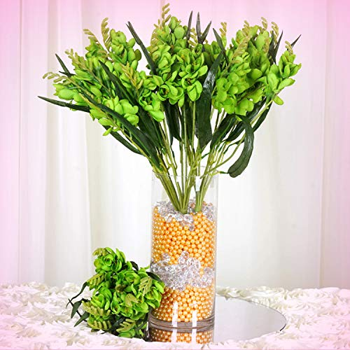 Inna-Wholesale Art Crafts New 4 Lime Green Bushes Silk Freesia Decorating Flowers Bouquets Reception Decorations - Perfect for Any Wedding, Special Occasion or Home Office D?cor (Wedding Freesia Bouquet)