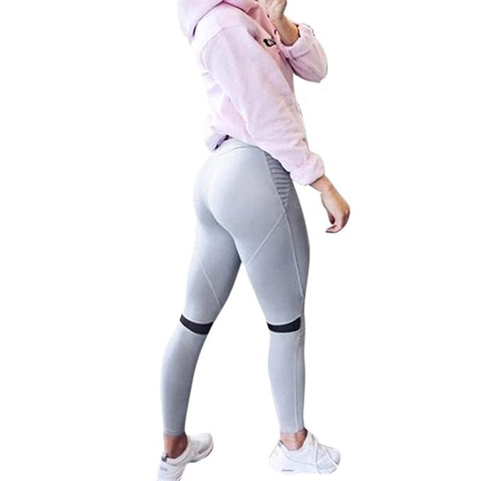 Soupliebe Leggings de Cintura Alta Mujer Yoga Pantalones ...