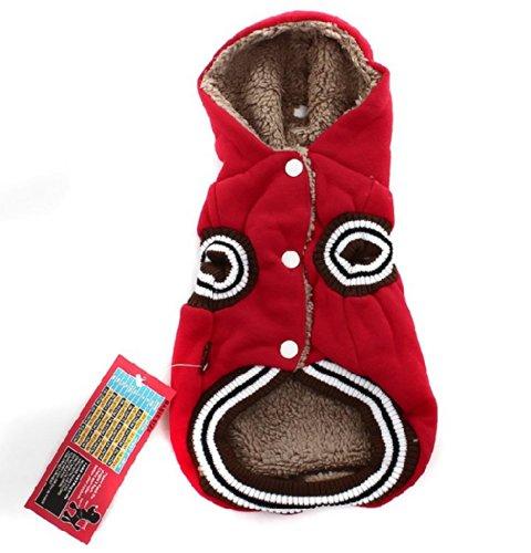 Generic Pet Jacket Dog Hoodie Clothe Fashion And Warm Hip-Hop Waistcoat 15.7X7.8X1.1 Red