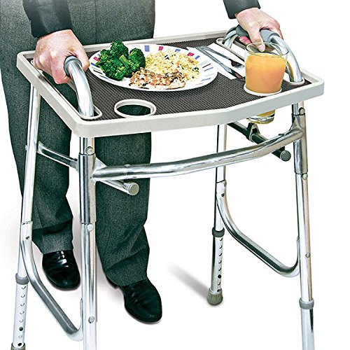(North American Walker Tray with Non-Slip Grip Mat)