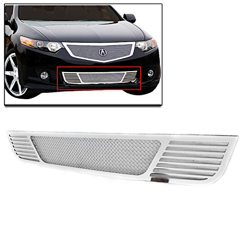 Lower Mesh Grille (ZMAUTOPARTS Acura Tsx Front Bumper Lower Stainless Steel Mesh Grille Grill Chrome New)