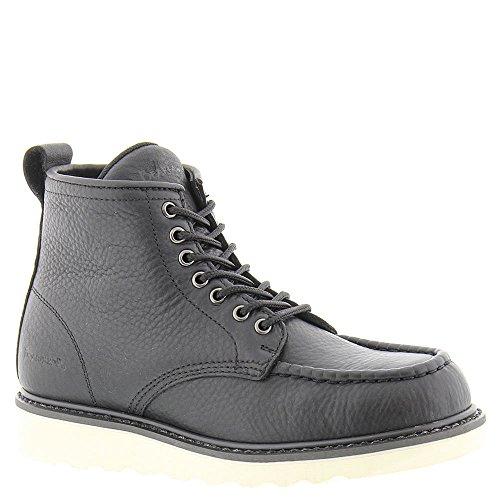 BEARPAW Men's Crockett Moc Toe Boots, Black Leather, 10 M