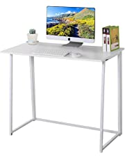 Dripex Small Folding Study Table Laptop Desk Workstation - Easy to Store and Organize Ideal for Small Space