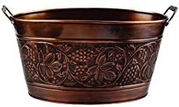 Old Dutch Embossed Heritage Party Tub, 5-1/2-Gallon, 18 by 10-1/2 by 9-1/2-Inch