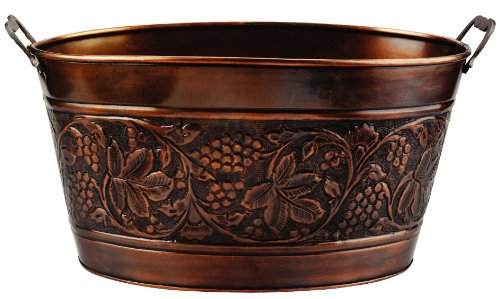Old Dutch Embossed Heritage Party Tub, 5-1/2-Gallon, 18 by 10-1/2 by 9-1/2-Inch Old Dutch Int' l LTD 836