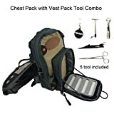 Cheap Aventik Fly Fishing Chest Bag Ultra Light Multiple Pockets Chest Pack with Vest Pack Tool Combo