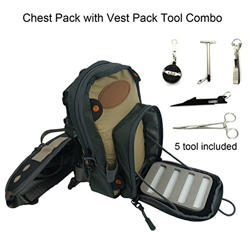Chest Bag Ultra Light Multiple Pockets Chest Pack with Vest Pack Tool Combo ()