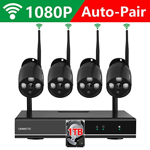 【1TB Hard Drive Pre-installed】ONWOTE 1080P Full HD Wireless