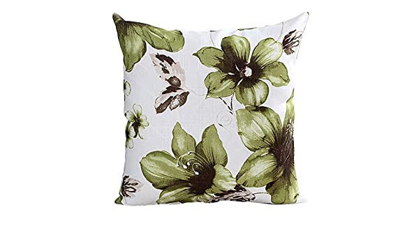 Deelin - Funda de cojín para sofá con diseño de orquídea ...