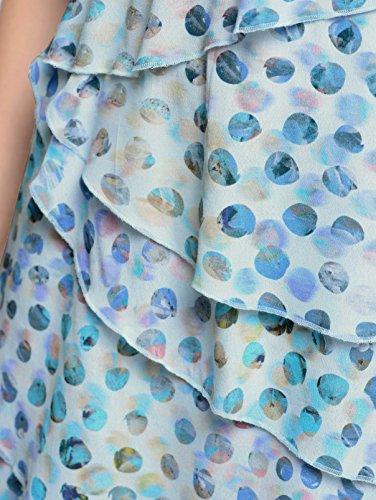Lagenverarbeitung Damen in Moda Modischer Blau Alba Druckkleid qX05wxZ