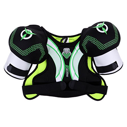 Baoblaze Lightweight, Lacrosse Hockey Shoulder Pads for Attack, Middie and Defensemen - M