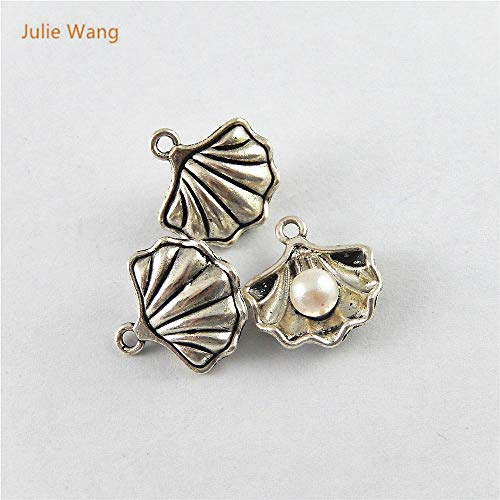 - Shell Pendant Pendants Shell 20PCS Antique Silver Color Charm Mussels Shell Pendants for Jewelry Necklace Earring Accessory Suspension 51641