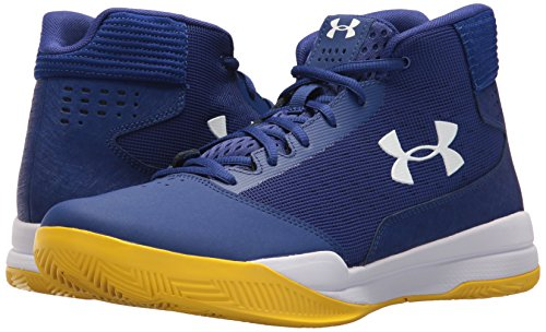 Image of the Under Armour Men's Jet Mid Basketball Shoe, (500)/Formation Blue, 9
