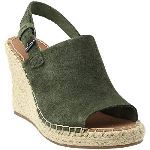 TOMS Women's Monica Pine Suede Wedge Sandals  US)