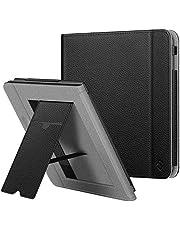 Fintie hoes voor Kobo Libra H2O 7-inch eReader - Premium PU Leather Stand Case Protective Cover met Card Slot, Handband en Slaap/Wek Functie, Zwart
