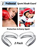 ProDental Sports Mouth Guards from (2 Pack)- No BPA Soft Material, Made in USA - Customizable for Comfort - Fits Any Size Mouth - Athletic Teeth Mouth Guards Designed to Provide Maximum Protection